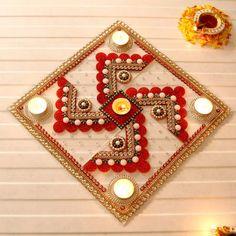 Rangoli Designs for Diwali: Buy Diwali Rangoli Online, Rangoli Stencils Diwali Decoration Items, Thali Decoration Ideas, Diwali Decorations At Home, Festival Decorations, Hanging Decorations, Diwali Craft, Diwali Rangoli, Diwali Gifts, Happy Diwali