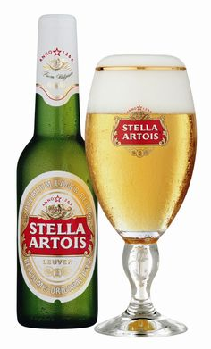 Stella Artois Euro Pale Lager - Stella Artois, Belgium A glass like this is in the freezer. All Beer, Wine And Beer, Best Beer, Beer 101, Stella Beer, Stella Artois Beer, Vodka, Belgian Beer, Beer Brands