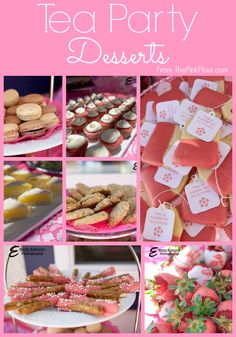 Tea Party Bridal Shower Dessert ideas - both homemade and semi-homemade recipes from www.thepinkflour.com