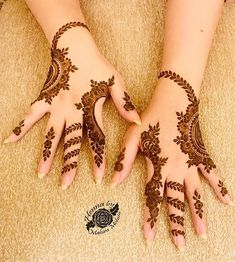 Latest arabic mehndi designs for hands - Hina designs - Henna Designs Hand Henna Hand Designs, Eid Mehndi Designs, Mehndi Designs Finger, Latest Arabic Mehndi Designs, Mehndi Designs For Girls, Modern Mehndi Designs, Mehndi Designs For Fingers, Mehndi Patterns, Mehndi Design Pictures