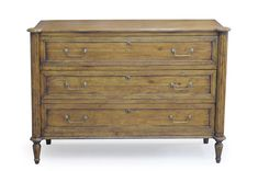 "Ciborium Chest Of Drawers  Fruitwood   Solid Walnut   51""w x 20""d x 36""h   Fruitwood Finish"