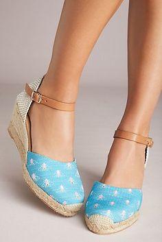 Anthropologie Critter Wedge Sandals