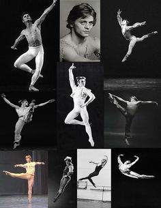 The Many Faces of Mikhail Baryshnikov Collage