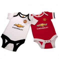 MANCHESTER UNITED Baby Bodysuit / Babygro suitable for a baby aged 3-6 months. 100% Cotton. Official Licensed Manchester United baby clothes. PRICE INCLUDES DELIVERY