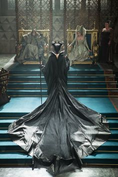 Maleficent, King Stefan and Queen Leila - Angelina Jolie, Sharlto Copley and Hannah New in Maleficent (2014).