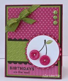 Cherry button card.