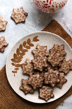 Soft gingerbread tiles topped with a lightly spiced buttered rum glaze - easy to make and perfect for the holidays. Royal Icing Cookies, Sugar Cookies, Xmas Cookies, Best Dessert Recipes, Fun Desserts, Baking Recipes, Cookie Recipes, Rum Butter, Christmas Desserts