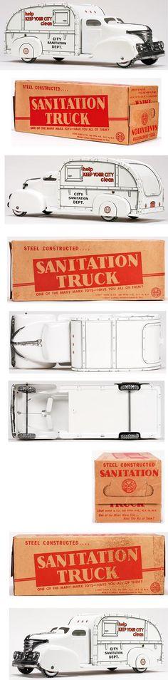 1951 Marx, City Sanitation Truck in Original Box