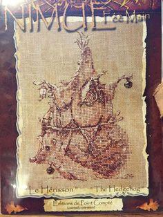 The Hedgehog Le Herisson Celtic Fairies Nimue Fee Main Cross Stitch Pattern #nimuefeemain #crossstitchpatternforpattern