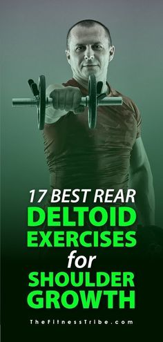 This muscle group can be a bit difficult to get into, but no worries. You'll find here the best rear deltoid exercises for maximum posterior deltoid growth! Deltoid Workout, Body Exercises, Fitness Exercises, Muscle Fitness, Mens Fitness, Fitness Goals, Fitness Tips, Crossfit, Yoga Workouts
