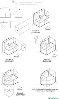 3d Drawing Techniques, Drawing Skills, Drawing Reference, Drawing Ideas, Isometric Sketch, Isometric Design, Isometric Drawing Exercises, Orthographic Drawing, Autocad