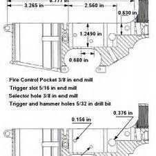 Original army ordinance department blueprints for the ar 15 lower drilling ar 15 lower receiver dimensions malvernweather Choice Image