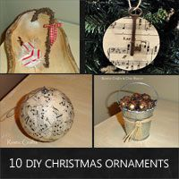 ten easy diy Christmas ornaments