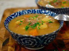 Leftover Prime Rib bones... make beef stew!  Recipe uses up Xmas dinner leftovers.