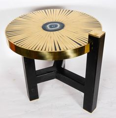 Pair of side tables by Sauvage   From a unique collection of antique and modern end tables at https://www.1stdibs.com/furniture/tables/end-tables/