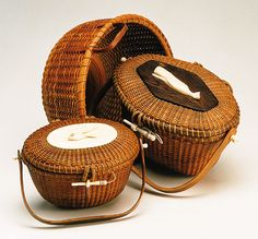 19th Century Nantucket Lightship Baskets.  I've always had a thing for Nantucket baskets.  They're so well made.