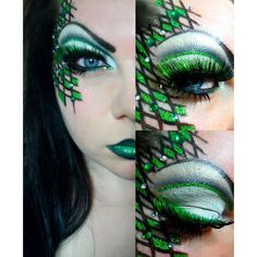 Makeup Maniac created this striking fantasy look with the help of Sugarpill Tako and Bulletproof eyeshadows.