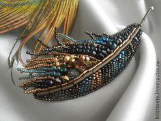 Brooch handmade. Fair Masters - handmade feather Sunbird. Handmade.