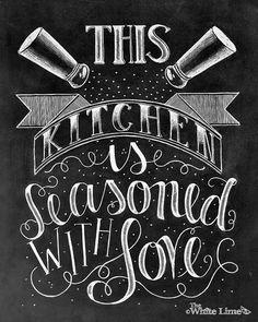 Decoración de la cocina arte de cocina muestra de por TheWhiteLime