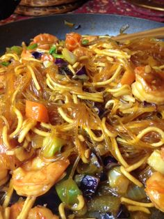 "Every time Filipinos celebrate a special event we cook ""Pancit"", a noodle dish. Noodles are a symbol of long life in most Asian cultures. And long life, prosperity, and the abundance of good wishes are often celebrated with good food. On my last night in the Philippines last week, during a nearly month-long trip, my..."