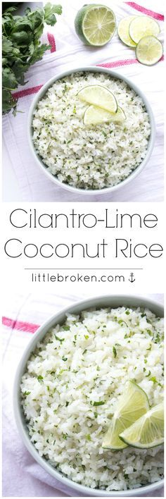 Cilantro-Lime Coconut Rice - The only way to eat rice! Cooked in coconut milk and loaded with fresh cilantro and lime zest!