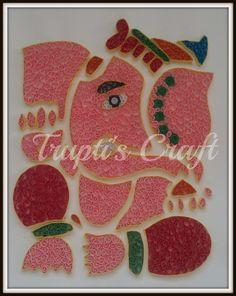 Trupti's Craft & Jewelry: Paper Quilling Ganpati