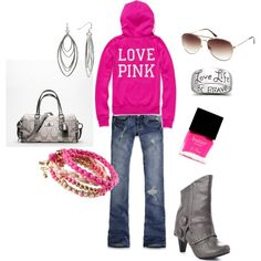 Splashes of pink, … – Tennis Shoe Outfit Winter Casual Winter Outfits, Summer Outfits, Cute Outfits, Outfit Winter, Pink Outfits, Tennis Shoes Outfit, My Outfit, Outfit Jeans, What To Wear