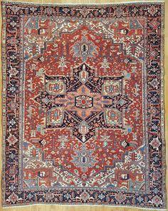 "Heriz Persian Rug - 9' 3"" x 11' 8"" -  #heriz #heris #antiquecarpet #antiquecarpets #antiquerug #antiquerugs #carpets #handknotted #handknottedrug #handmade #iran #iranianrug #oldcarpet #orientalcarpet #orientalcarpets #orientalrug #orientalrugs #persiancarpet #persiancarpets #persianrug"