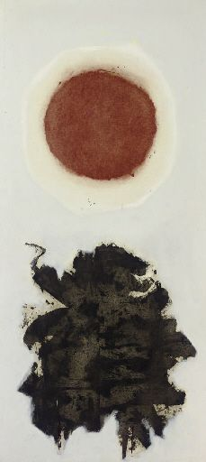 Burst #3 - Adolph Gottlieb. Completion Date: 1967  Style: Abstract Expressionism  Series: Explosions  Genre: abstract painting