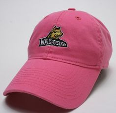Pink Wright State hat