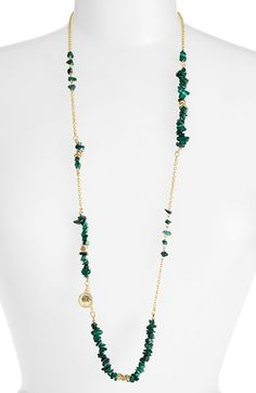 Women's Sequin 'Color Karma' Long Beaded Necklace - Green