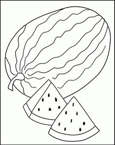 Watermelon Coloring Page Download Free Watermelon