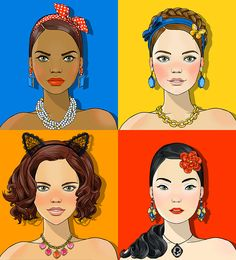 #AnnaLazareva #makeup #hairstyles #hairaccessories #accessories #portrait #graphic #illustration #fashion #LindgrenSmith
