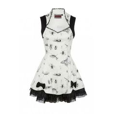 Jawbreaker Gothic Retro Rockabilly Tattoo Pinup Vintage Lolita Sexy... ($70) ❤ liked on Polyvore featuring dresses, vintage doll dress, sexy mini dress, mini dress, white mini dress and vintage cocktail dress
