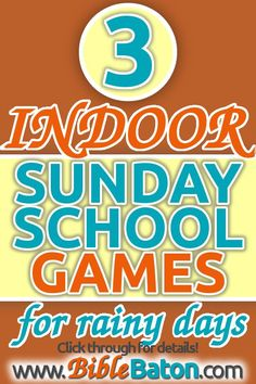 Ever been stuck in the Sunday School classroom trying to fill up extra time? Talk about stress! These 3 easy, no-prep indoor Sunday School games are a LIFE-SAVER for that situation! Kids Church Games, School Games For Kids, Sunday School Games, Sunday School Classroom, Sunday School Lessons, Sunday School Crafts, School Ideas, Children Church, Kids Class