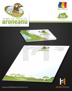 Logo and Stationery Design for Ferma Aroneanu Iasi, Romania. www.prepelitearonenau.ro