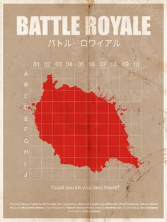 Battle Royale - movie poster - pongelektro