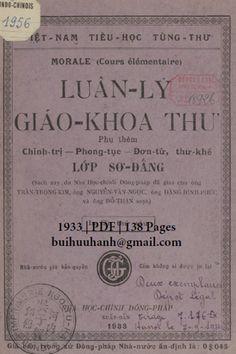 Luân Lý Giáo Khoa Thư Lớp Sơ Đẳng (NXB Nha Học Chính 1933) - Trần Trọng Kim, 138 Trang | Sách Việt Nam Phan, Personalized Items