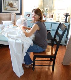 how to make slipcovers-- for a sectional
