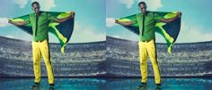 Loving the Jamaican Olympic uniforms. Designed by Cedella Marley (Bob's eldest daughter) Bob S, Olympics, Daughter, Facebook, Guys, Cool Stuff, My Style, Fashion Design, My Daughter