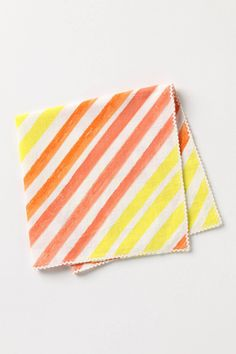 Orange and yellow stripe napkins, $8; Photo by Anthropologie #registry