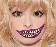 Tokyo monster makeup Cool idea for Cheshire cat :3