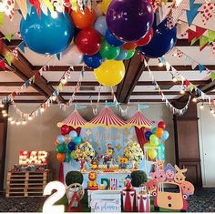 1st Birthday Themes, Circus Birthday, Circus Party, Boy Birthday Parties, Baby Birthday, Party Fiesta, Elmo Party, Carnival Themes, Party Decoration