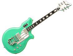 WIRE guitarist Colin Newman rocked this thing at First Avenue. Airline Map in seafoam green.