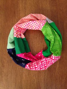 Colorful Spring Infinity Scarf by KutKloth on Etsy, $14.00