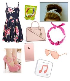 """Pink"" by alilyfe on Polyvore featuring WithChic, Ally Fashion and Michael Kors"