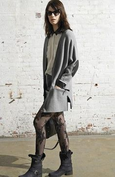 Love the floral lace tights!