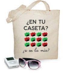 Bolsa Tote bag ¿En tu caseta o en la mía? Edición Feria de Sevilla