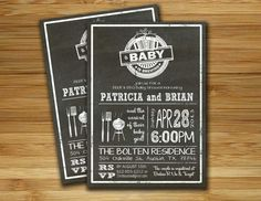 Baby shower invitation - boy girl baby shower BBQ barbecue BEER invite- DIY barbecue couples shower gender neutral printable. $18.00, via Etsy.