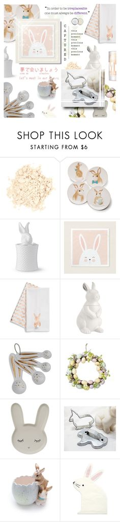 """""""#610 Bunny Decor"""" by my-names-michi ❤ liked on Polyvore featuring interior, interiors, interior design, home, home decor, interior decorating, Laura Mercier, Williams-Sonoma, Levtex and Martha Stewart"""